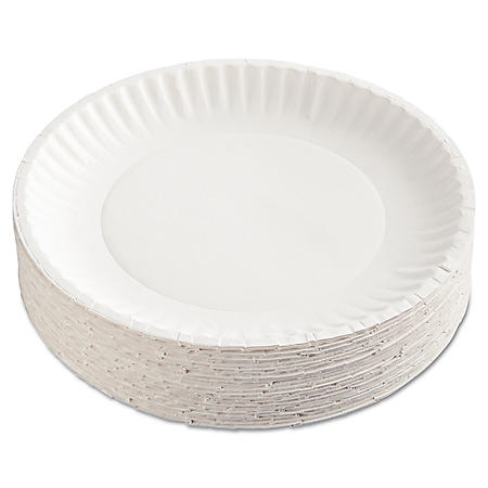 """Green Label Recyclable Paper Plates, 9"""" (1,200 ct.)"""