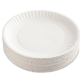 "Green Label Recyclable Paper Plates, 9"" (1,200 ct.)"