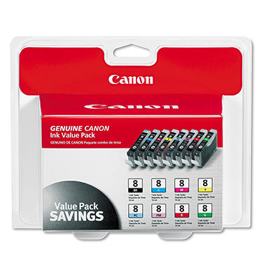 Canon CLI-8 Ink Tank Cartridge, Multi-color Assortment (8 pk.)