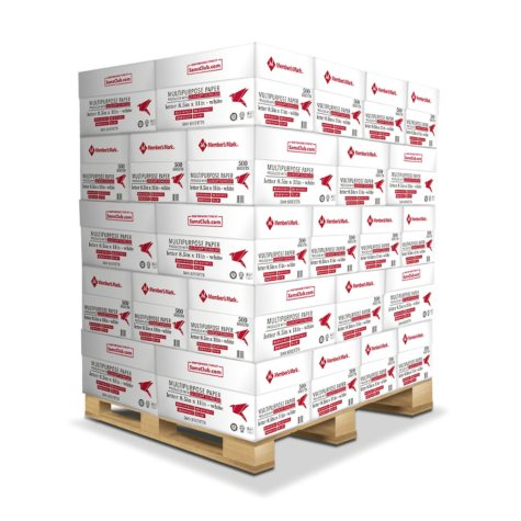 "Member's Mark Multipurpose Copy Paper, 20 lb., 92 Bright, 8.5 x 11"" – 40 Case Pallet"