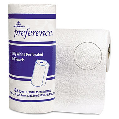 Georgia Pacific - Preference, Perforated Paper Towels, 85 Sheets - 15 Rolls