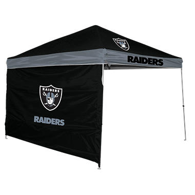 NFL Oakland Raiders 9u0027 x 9u0027 Canopy with Wall  sc 1 st  Samu0027s Club & NFL Oakland Raiders 9u0027 x 9u0027 Canopy with Wall - Samu0027s Club