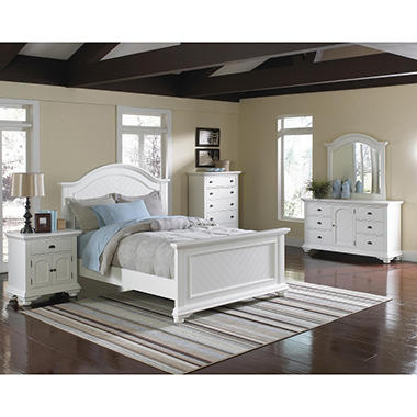 White King Bedroom Sets.  Addison White Bedroom Set Choose Size Sam s Club