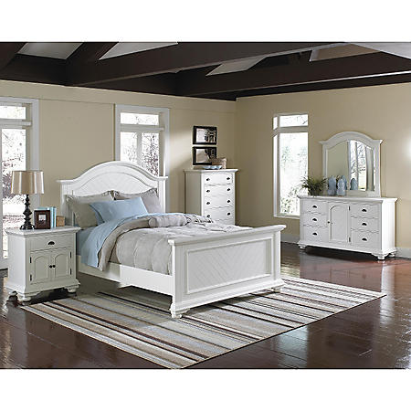 Addison White Bedroom Set (Choose Size)