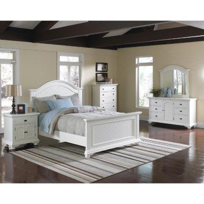 Impressive White Bedroom Furniture Set Decoration