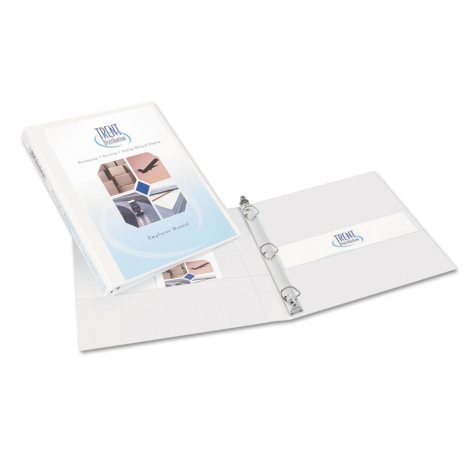 """Avery Durable View Binder with Slant Rings - Letter - 1/2"""" Capacity - White - 6 ct."""