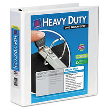 "Avery Heavy Duty View Binder with One Touch EZD Rings, 2"" Capacity, White, 2pk."