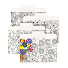 "Smead 1/3 Cut Assorted Position SuperTab Coloring File Folders with 3/4"" Expansion, White (Letter, 24 pk.)"