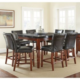 Scott Counter Height Table And 8 Chair Dining Set