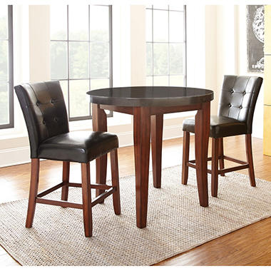 Scott Café Counter Height Table and 2 Chairs Set