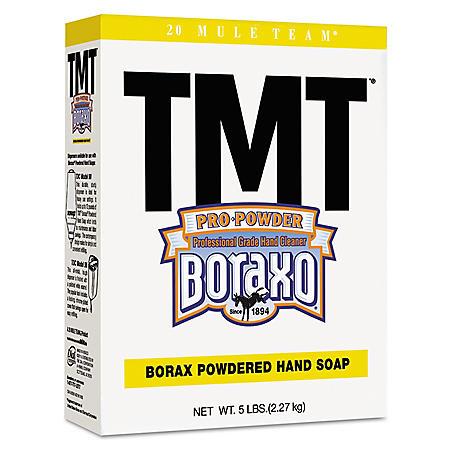 Boraxo - TMT Powdered Hand Soap, Unscented Powder, 5lb Box -  10/Carton