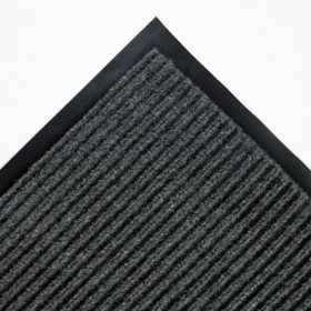 Crown - Needle Rib Wipe & Scrape Mat, Polypropylene, 48 x 72 -  Gray