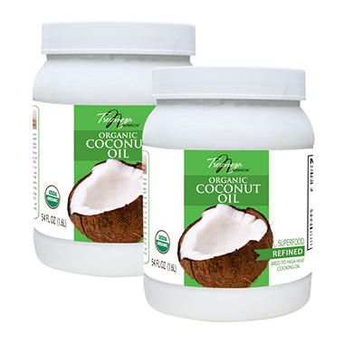 Tresomega Nutrition Organic Refined Coconut Oil (54 oz., 2 ct.)