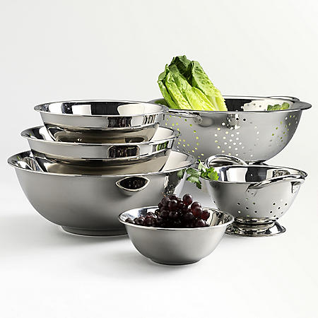 Stainless Steel Mixing Bowl Set - 6 pc.