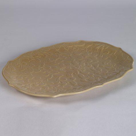 "17"" Leaf Pear Blossom Platter"