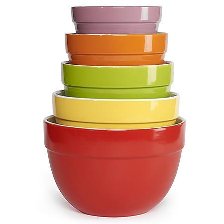 Multi-Colored Mixing Bowl Set - 5 pc.