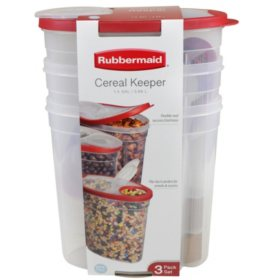 Rubbermaid Cereal Keeper, 3 pk. (Assorted Colors)