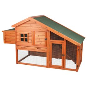 """Trixie Chicken Coop with a View (72"""" x 31.5"""" x 42"""")"""