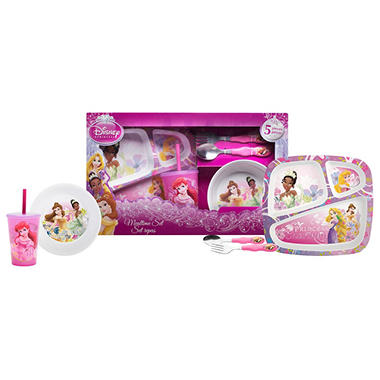 Disney Princess Dinnerware Set - 5 pc.  sc 1 st  Samu0027s Club : princess dinnerware - Pezcame.Com