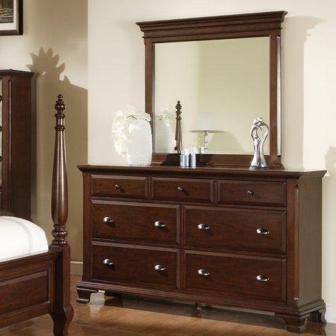 Brinley Cherry Dresser and Mirror