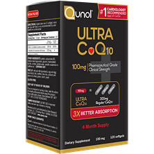 Qunol Ultra 100% Natural COQ10 100mg Softgels (120 ct.)