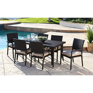 Sophia 7 Piece Outdoor Dining Set With Cushions