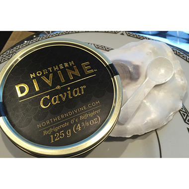 Northern Divine Certified Organic Sturgeon Caviar (125 g tin)