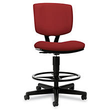 HON Volt Series Adjustable Task Stool - Crimson Fabric