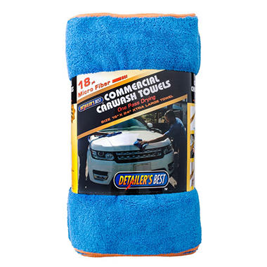 Detailer's Best Microfiber Carwash Towels (18 pack)