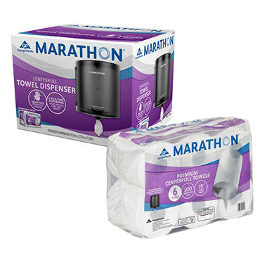 Marathon Center Pull Paper Towel and Dispenser Bundle