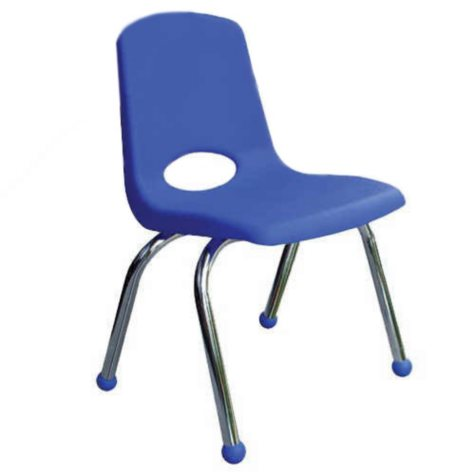 "ECR4Kids 10"" Stack Chair with Chrome Legs & Ball Glides, Select Color - 6 pack"