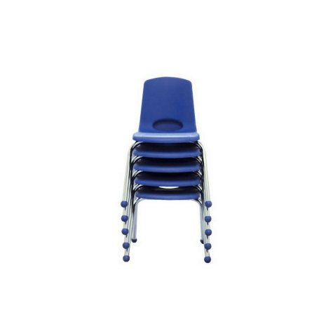 """ECR4Kids 14"""" Stack Chair with Chrome Legs & Ball Glides, Select Color - 6 pack"""