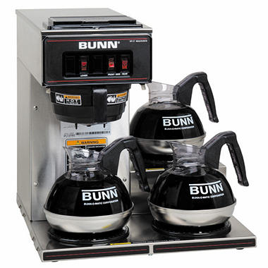 Bunn VP17-3 Commercial Pourover Brewer with 3 warmers