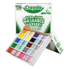 Crayola® Washable Classpack Markers, Broad Point, Assorted, 200/Box