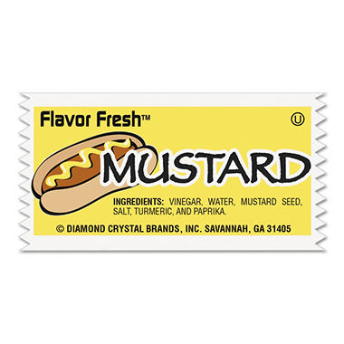 Flavor Fresh Mustard Packets - 5.5g - 200 ct.