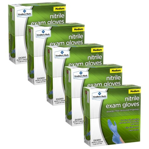 Member's Mark Nitrile Exam Gloves (Choose Your Size) (2,000ct)