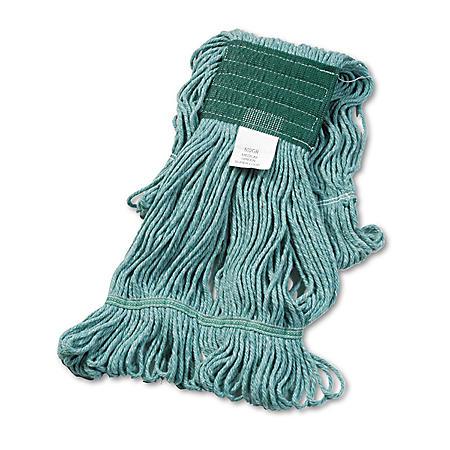 Boardwalk® Super Loop Wet Mop Head, Cotton/Synthetic, Medium Size, Green