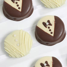 Bride and Groom Belgian Chocolate-Covered Oreo Cookies (12 pc.)