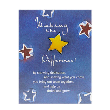 Baudville Making the Difference Character Pin, 4 Pack
