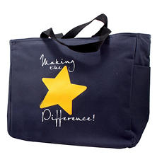 Baudville Making the Difference Tote Bag, 4 Pack