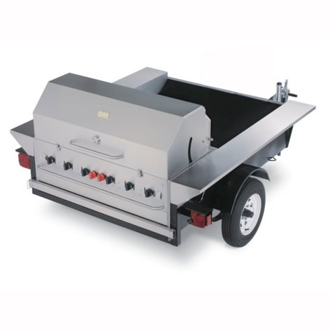 """Towable Grill - 48"""" Stainless Steel"""