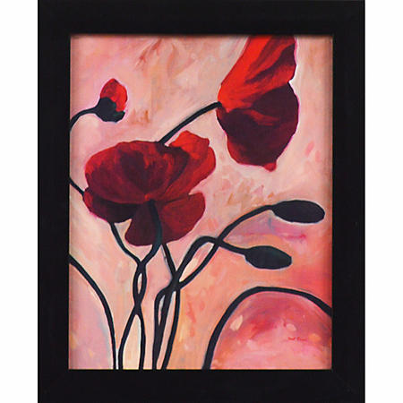 RED FLOWER PTM WALL ART