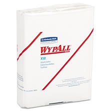WypAll* - X50 Wipers, 10 x 12 1/2, White, 26/Pack -  32 Packs/Carton