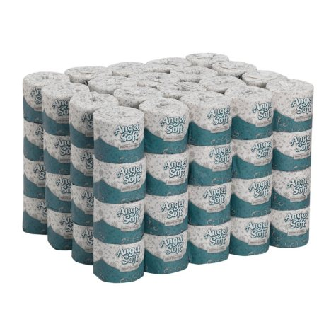 Angel Soft PS - Premium Bathroom Tissue, 2-Ply, 450 Sheets - 80 Rolls Toilet Paper