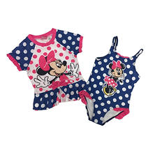 Minnie Mouse Rash Guard And 1-Piece Swimsuit Set