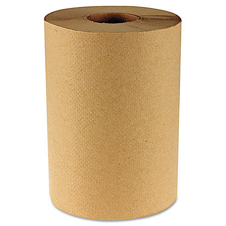 Boardwalk - Economy Hardwound Paper Towels, 1-Ply, 350 ft, Brown - 12 Rolls