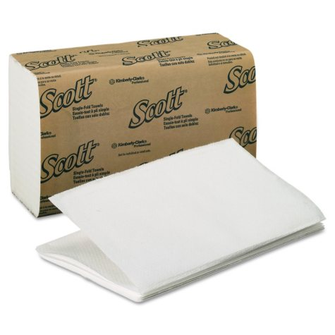Kimberly-Clark Professional - Scott Single-Fold Paper Towels, 9 3/10 x 10 1/2, White, 250pk. (16 pk/carton)