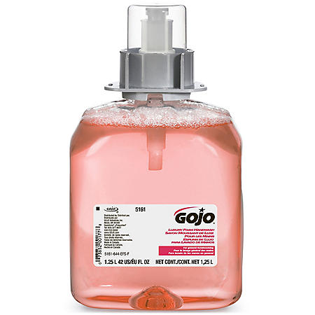 GOJO FMX-12 Luxury Foam Handwash, Cranberry Scent, EcoLogo Certified 1250mL Foam Soap Refill for GOJO FMX-12 Push-Style Dispenser – 5161-03
