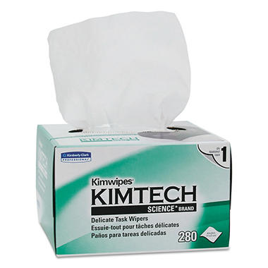 Kimtech - WIPES, Tissue, 4 2/5 x 8 2/5, 280/Box -  30 Boxes/Carton