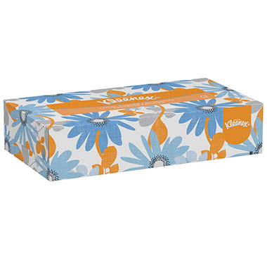Kleenex - White Facial Tissue, 2-Ply, Pop-Up Box, 125 Sheets -  48/Carton